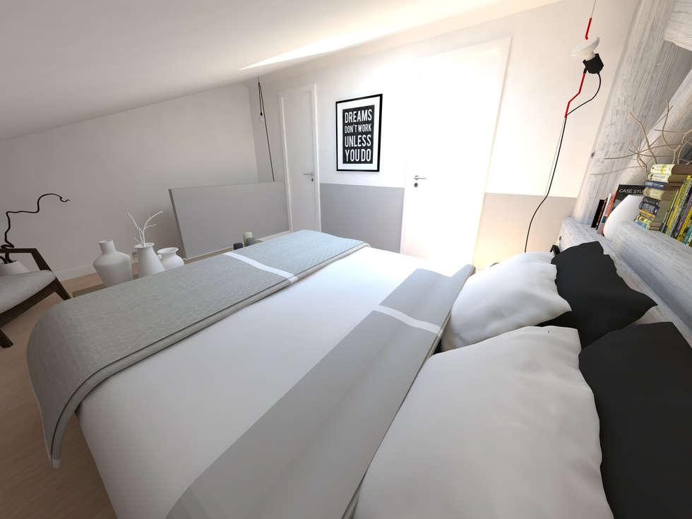 Réaménagement d'une chambre: Chambre de style de style Moderne par La Fable