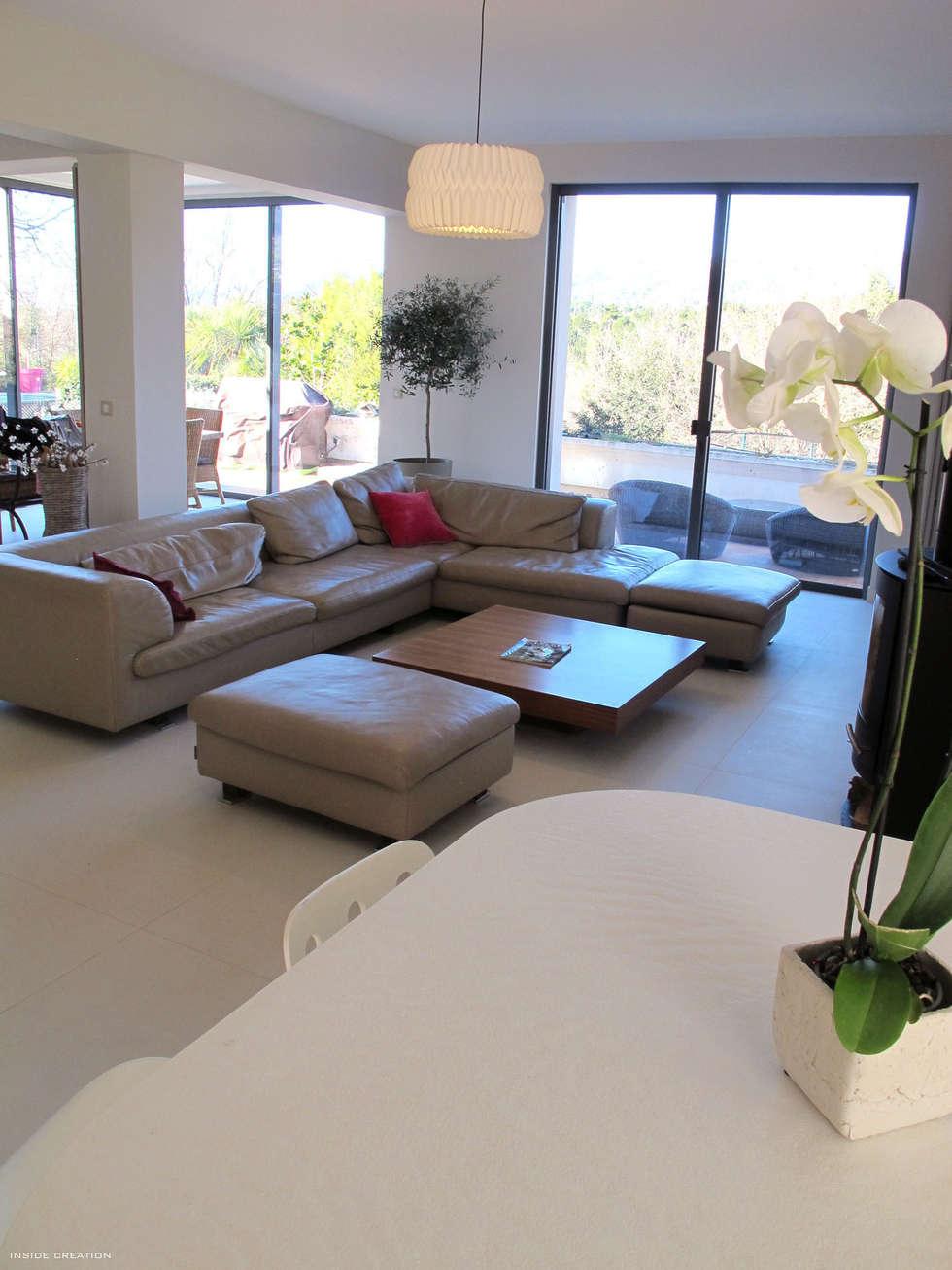 Carrelage slim 100 x 100: Maisons de style de style Moderne par INSIDE Création