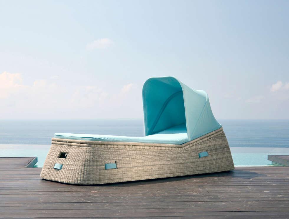 Fiji Basket Lounger: moderner Garten von KwiK Designmöbel GmbH