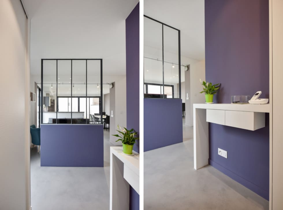 Id es de design d 39 int rieur et photos de r novation homify - Amenagement devant porte d entree ...