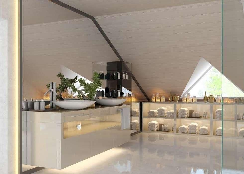 Nuevo Tasarım – Ankarada bir ev: modern tarz Banyo