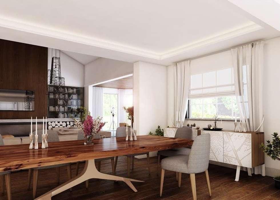 Nuevo Tasarım – Ankarada bir ev: modern tarz Oturma Odası