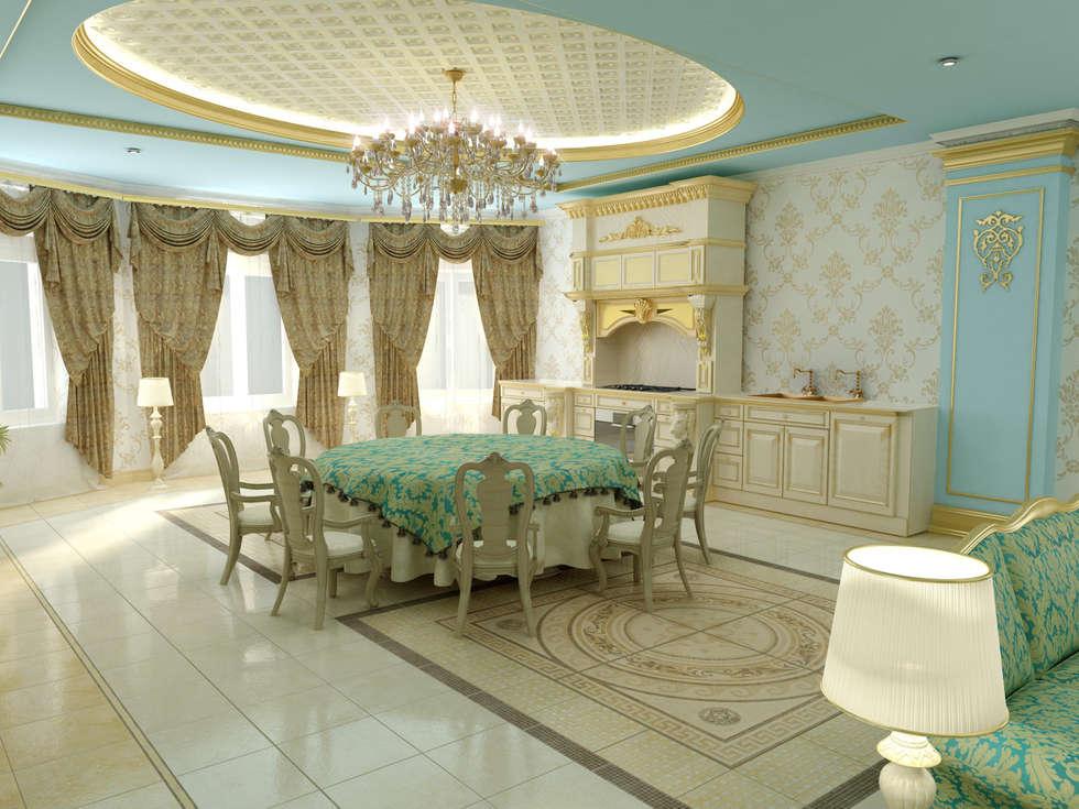 Дизайн интерьера в классическом стиле в Чечне: Кухни в . Автор – Дизайн студия 'Exmod' Павел Цунев