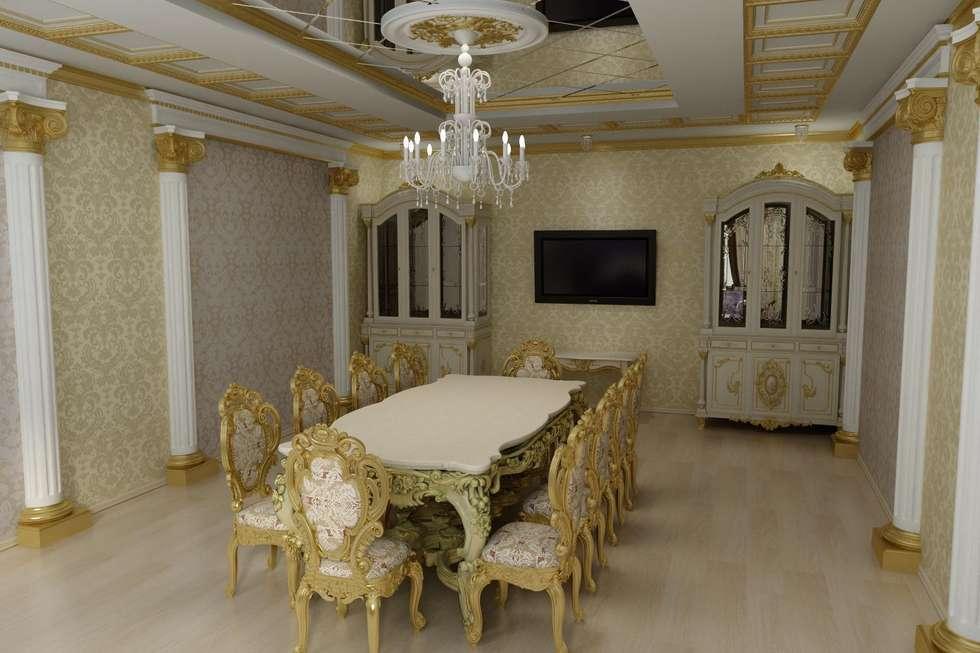 Столовая в стиле Барокко: Столовые комнаты в . Автор – Дизайн студия 'Exmod' Павел Цунев