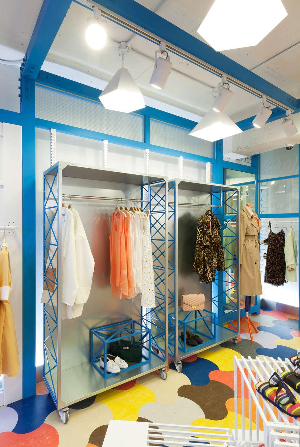 공간과 패션의 조화: Design m4의  가게