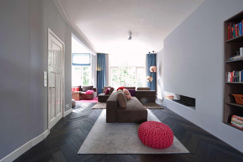 Fotos van een moderne woonkamer: verbouwing en inrichting ...