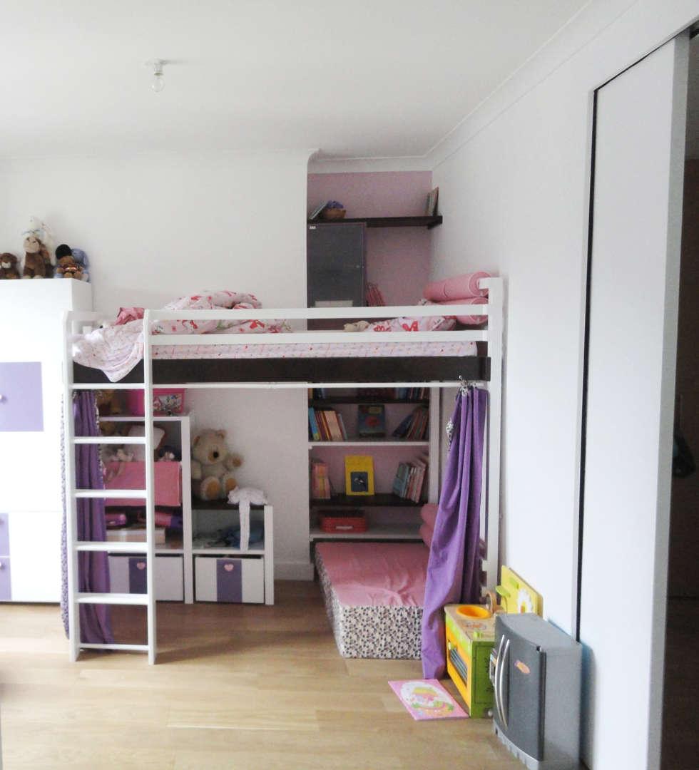 Chambre fille: Chambre d'enfant de style de style Moderne par Ateliers Safouane