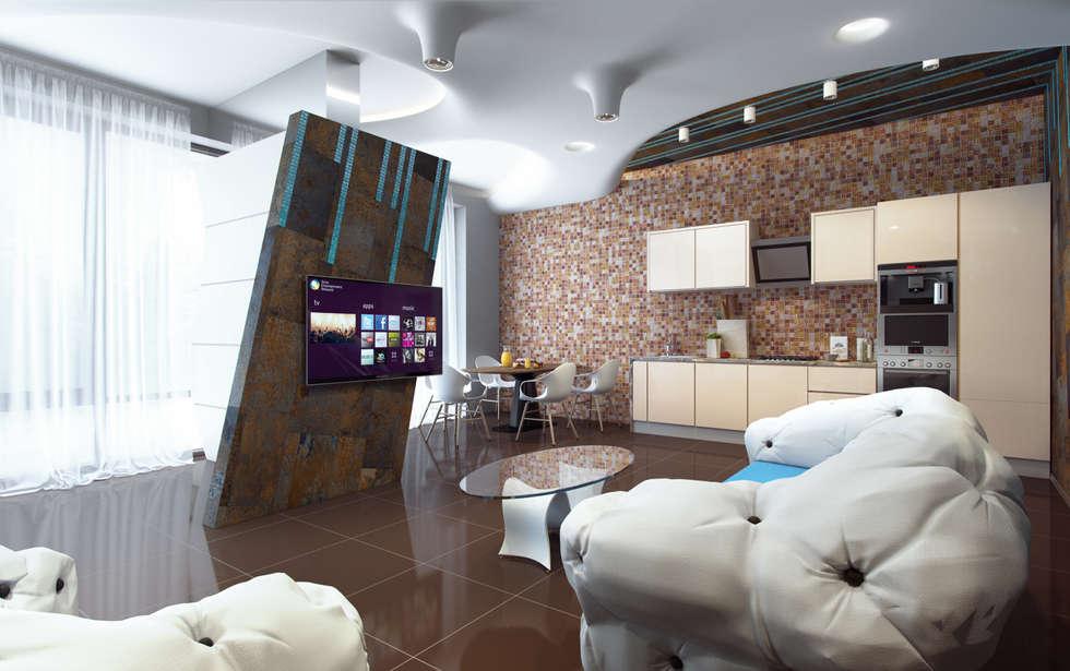 нормальная квартира: Гостиная в . Автор – Хандсвел