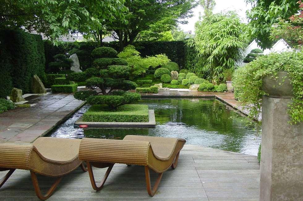 Gartengestaltung unter Anwendung der japanischen Gartenkunst: ausgefallener Garten von japan-garten-kultur