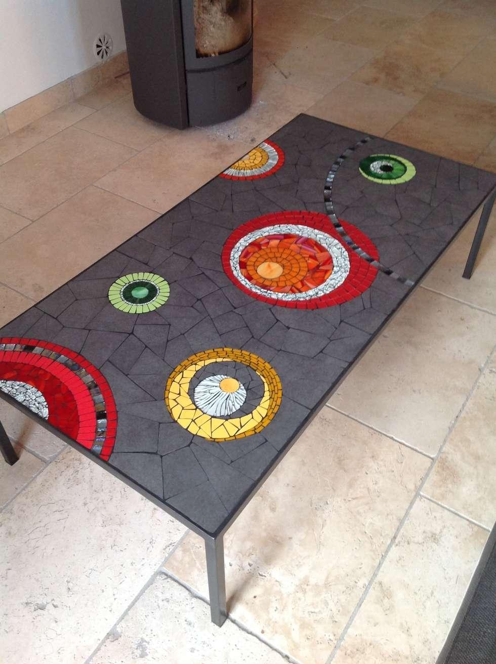 table basse maison de style par credemo creation decoration mosaique homify. Black Bedroom Furniture Sets. Home Design Ideas