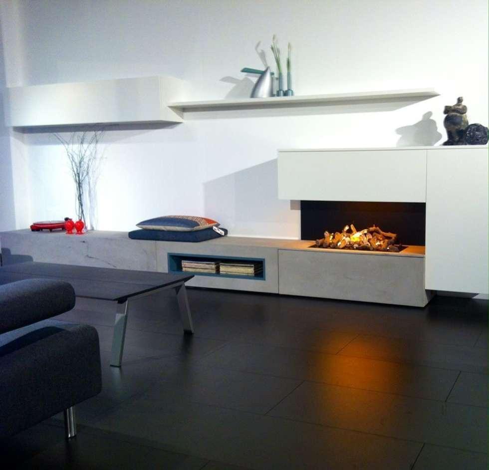 Foto di soggiorno in stile in stile minimalista ...