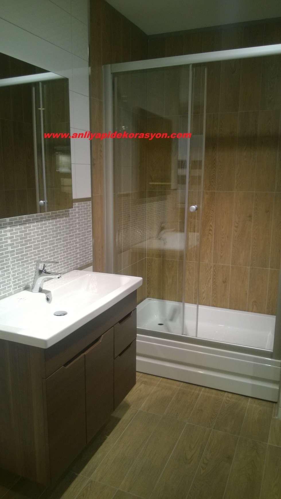 anlı yapı dekorasyon – anlı yapı dekorasyon: modern tarz Banyo