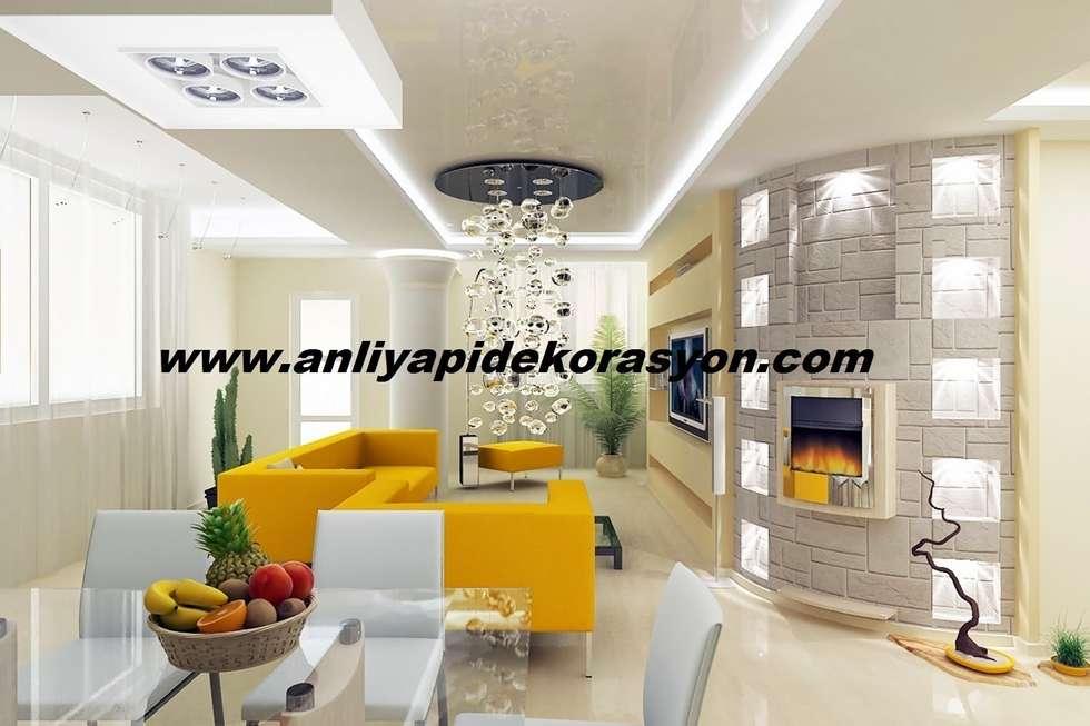 anlı yapı dekorasyon – anlı yapı dekorasyon: modern tarz Oturma Odası