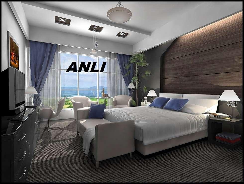 anlı yapı dekorasyon – anlı yapı dekorasyon: modern tarz Yatak Odası