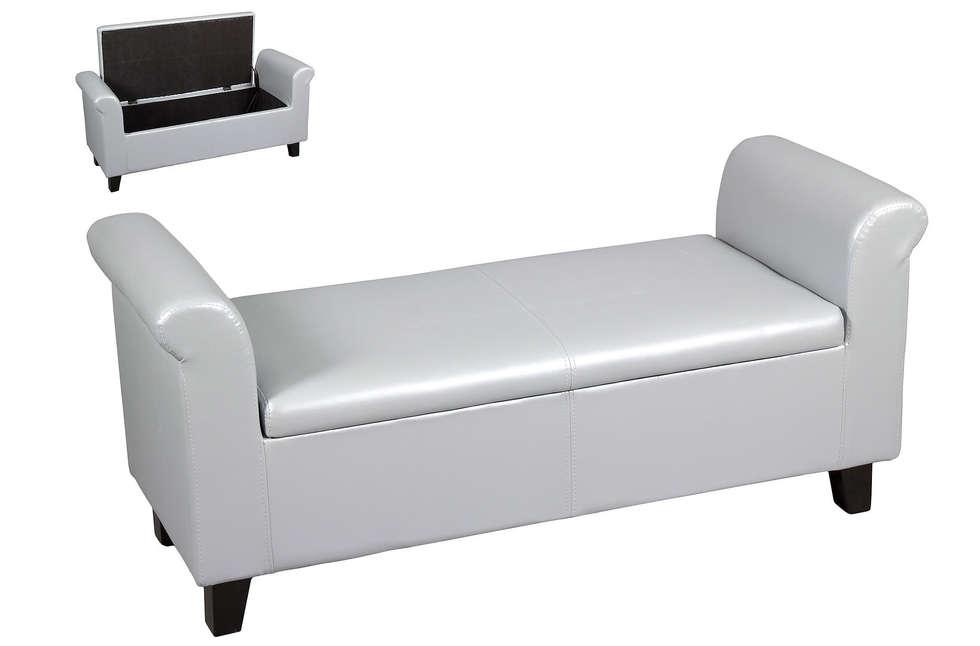 Fotos de dormitorios de estilo clásico : banqueta baúl de polipiel ...