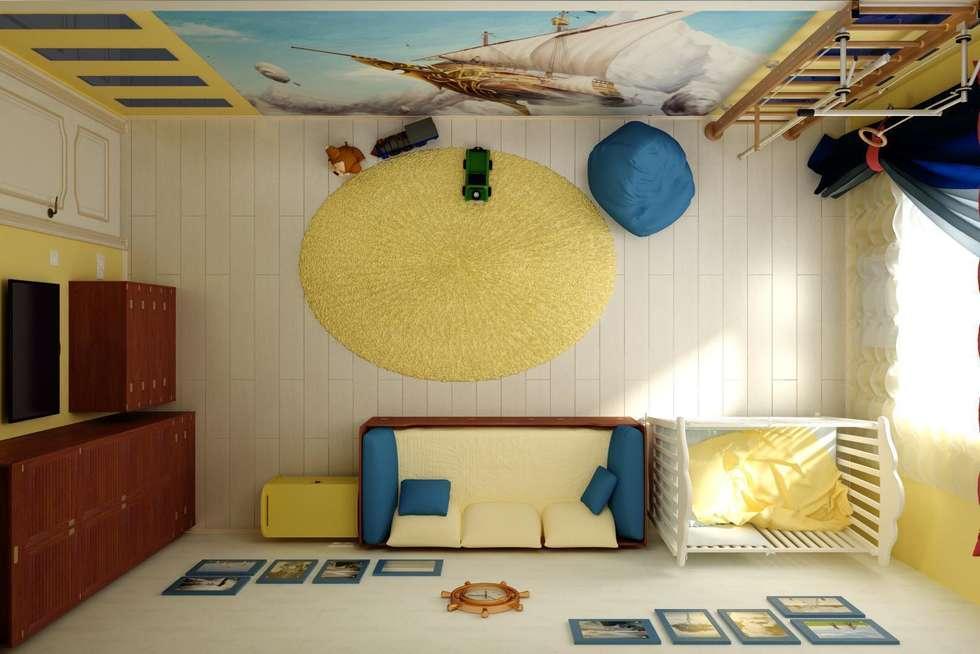 """Детская """"Летучий корабль"""": Детские комнаты в . Автор – Дизайн студия 'Exmod' Павел Цунев"""