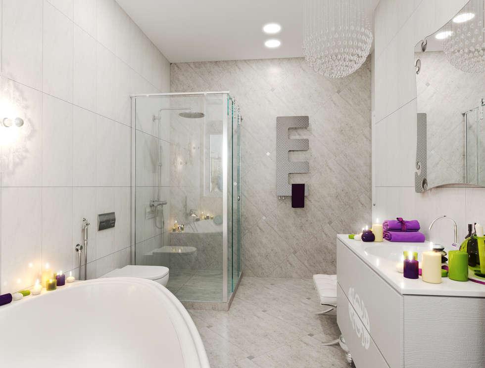 гранит: Ванные комнаты в . Автор – pashchak design