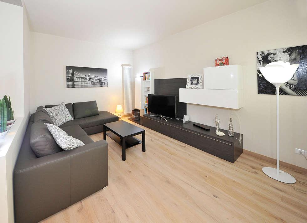 soggiorno moderno con pavimento in rovere soggiorno in