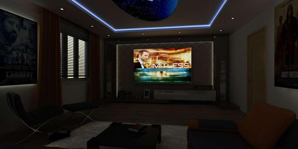 CANSEL BOZKURT  interior architect – VİLLA N'MODA: akdeniz tarzı tarz Oturma Odası