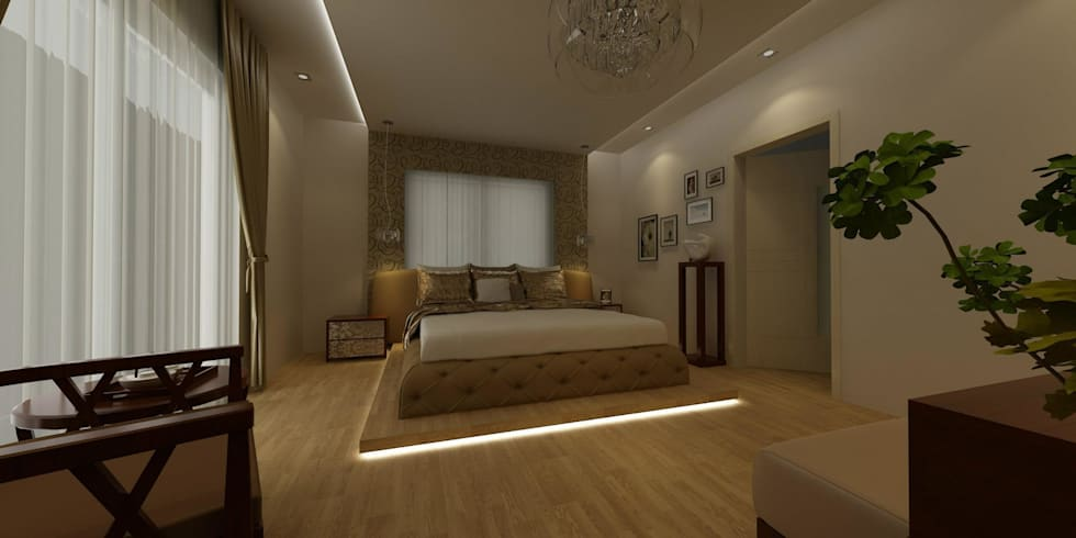 CANSEL BOZKURT  interior architect – VİLLA N'MODA: minimal tarz tarz Yatak Odası