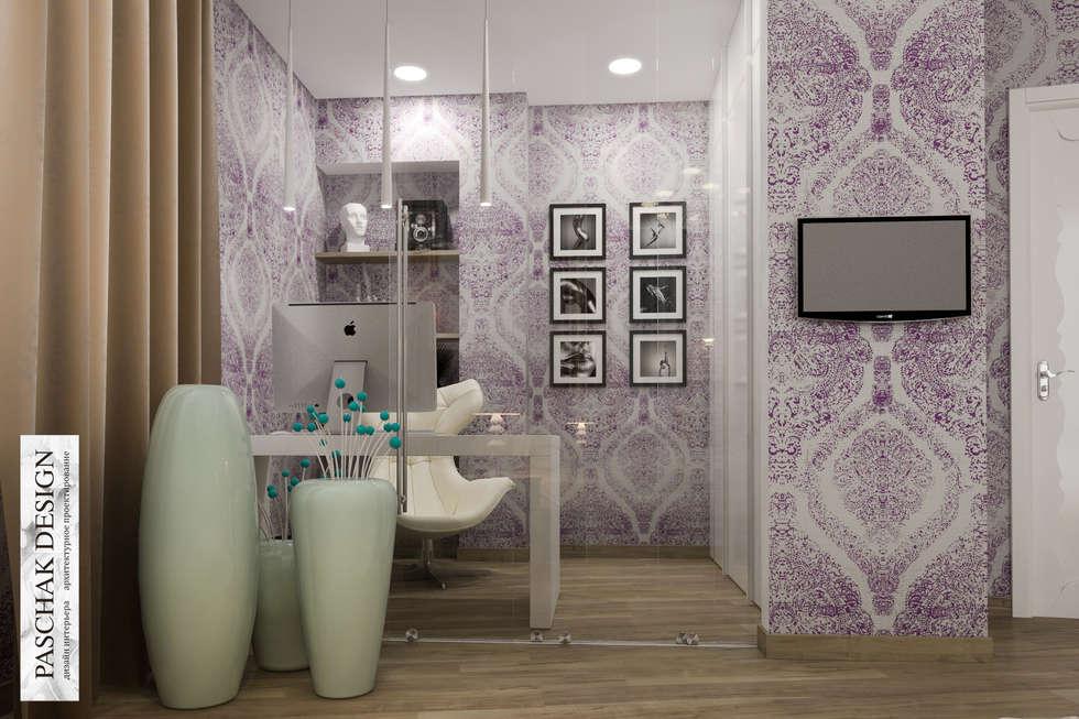 кабинет+спальня: Рабочие кабинеты в . Автор – pashchak design