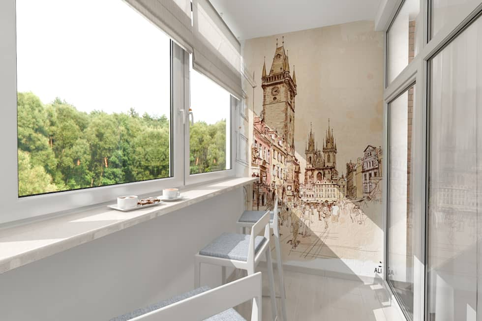 Уютный балкончик: Tерраса в . Автор – pashchak design