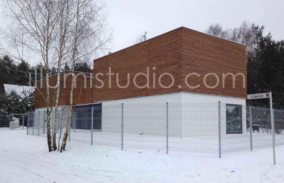 DOMY W ZABUDOWIE BLIŹNIACZEJ: styl minimalistyczne, w kategorii Domy zaprojektowany przez ILLUMISTUDIO