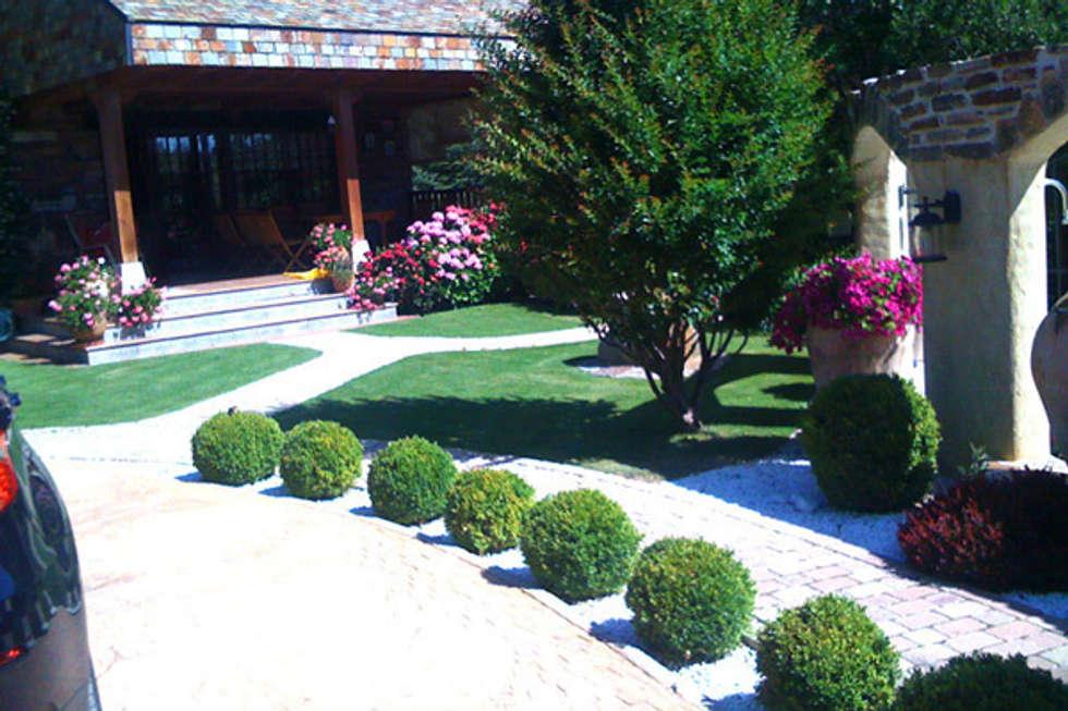 Jardines de estilo moderno por viveros rucat viveros madrid homify - Diseno jardines madrid ...
