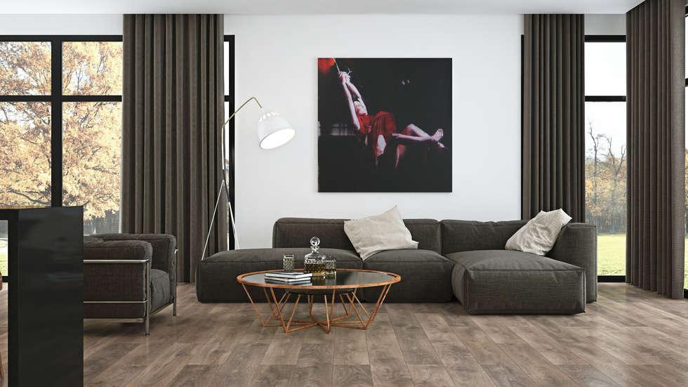 Soggiorno in stile in stile minimalista di the wood for Soggiorno minimalista