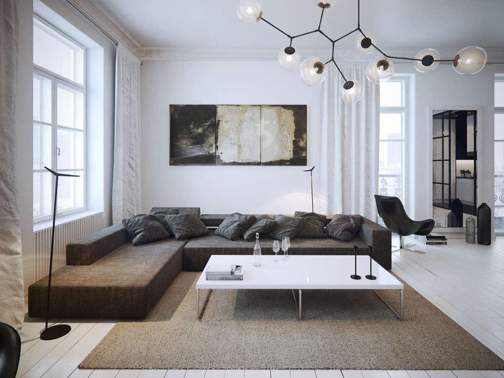 Foto di soggiorno in stile in stile minimalista di ofd ...