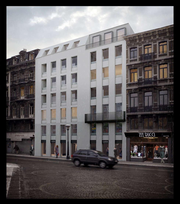 Description du parti urbanistique: Maisons de style de style Moderne par altiplan°architects
