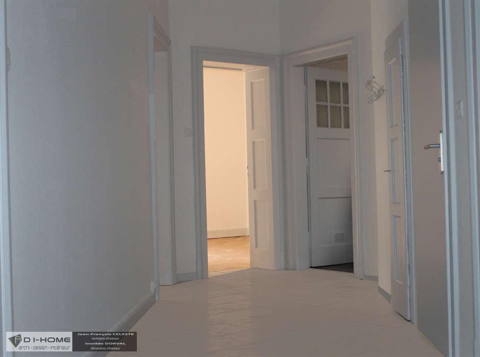 couloir: Couloir et hall d'entrée de style  par Agence ADI-HOME