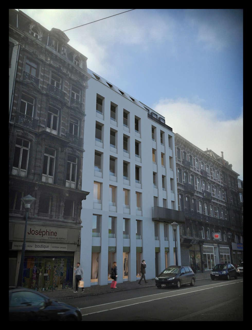 Description du parti architectural: Maisons de style de style Moderne par altiplan°architects