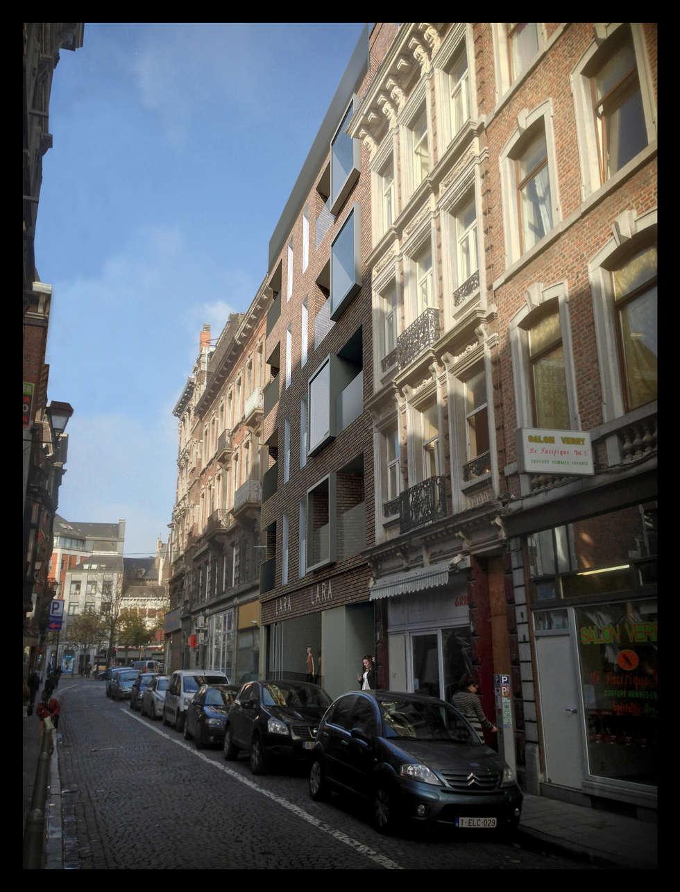 Façade rue de la Madeleine: Maisons de style de style Moderne par altiplan°architects