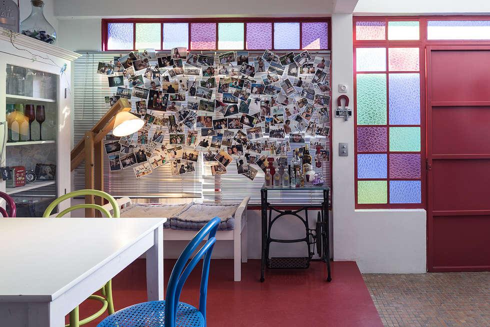 Jantar: Salas de jantar ecléticas por Blacher Arquitetura