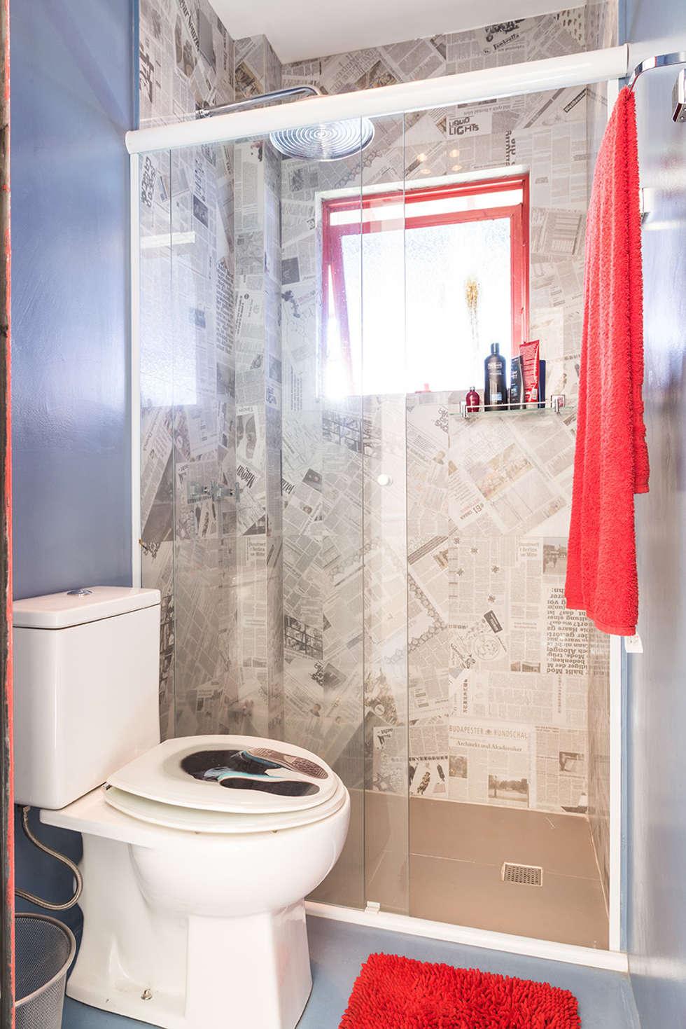 Banho íntimo: Banheiros ecléticos por Blacher Arquitetura