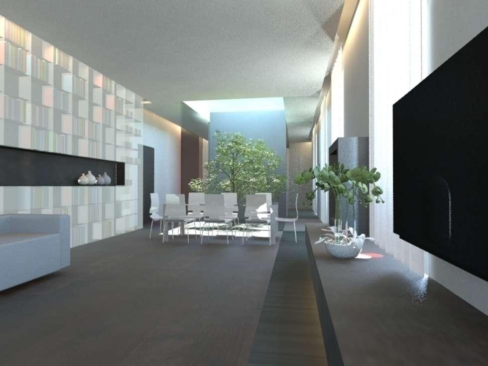 Soggiorno: Soggiorno in stile in stile Minimalista di gk architetti  (Carlo Andrea Gorelli+Keiko Kondo)