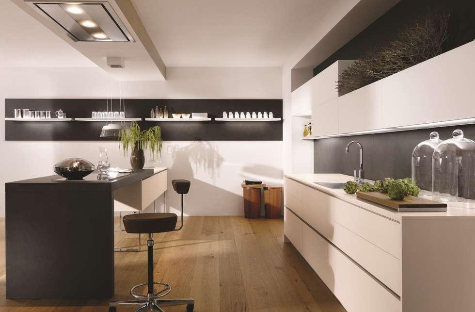 moderne küche bilder: alno satina kaschmir | homify, Hause ideen
