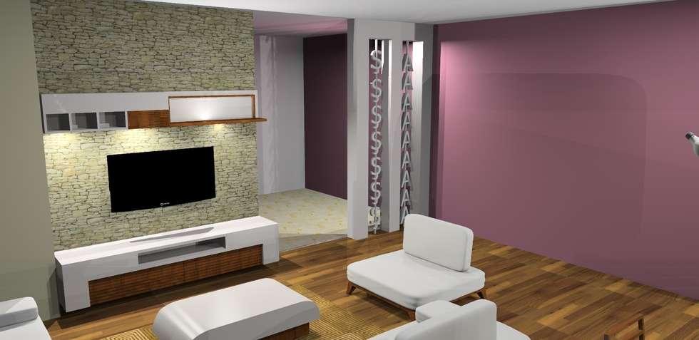 Trabcelona Design – Proje çalışması: modern tarz Oturma Odası