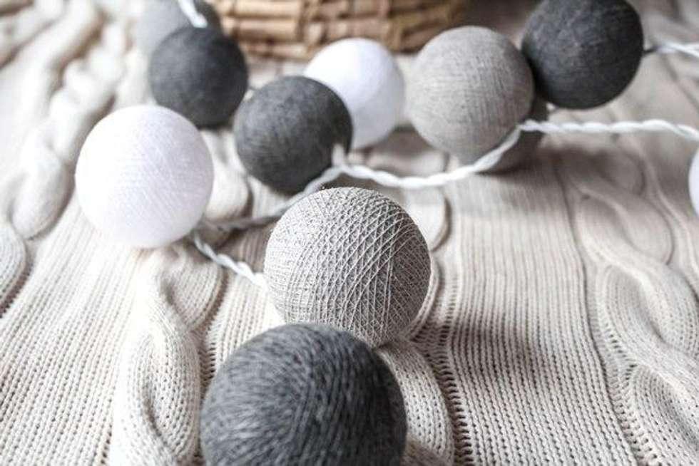 Cotton ball lights - lampki: styl , w kategorii Miejsca na imprezy zaprojektowany przez Qule
