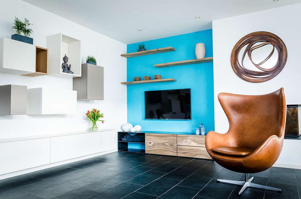 Mit Farben Akzente Setzen: Moderne Wohnzimmer Von Global Inspirations Design