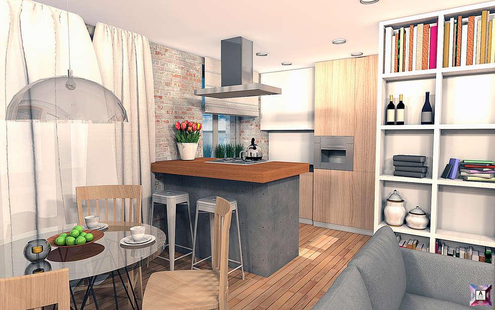 Cocinas de estilo industrial por A.workshop