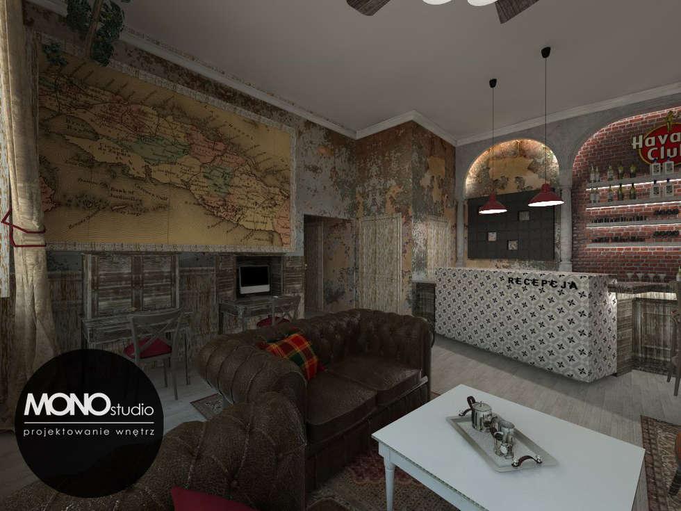 Kubański temperament : styl , w kategorii Hotele zaprojektowany przez MONOstudio