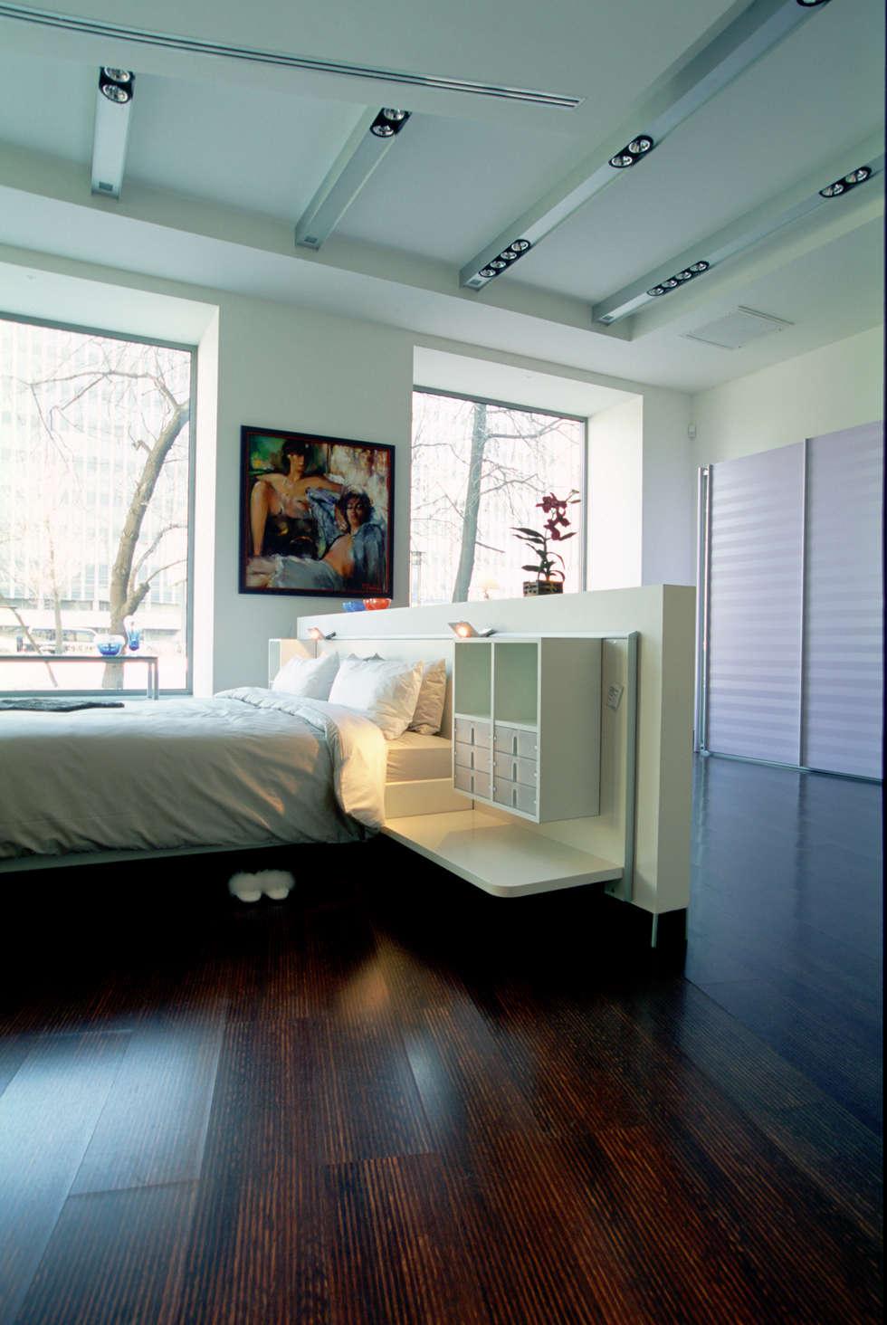 Зона спальни: Офисы и магазины в . Автор – Архитектурное бюро Лены Гординой