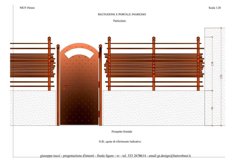 Main door of the property: Case in stile in stile Eclettico di Giuseppe Tucci Interior Designer