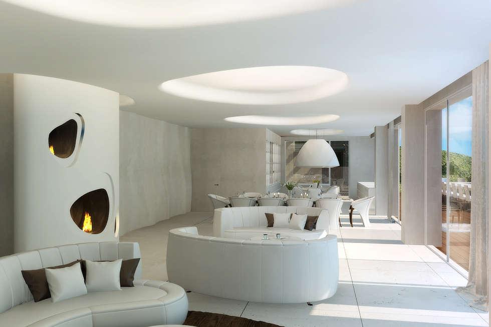 Гостиная или комната отдыха : Бассейн в . Автор – Архитектурное бюро Лены Гординой