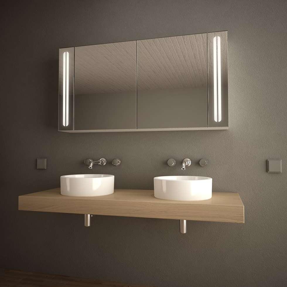 klassische badezimmer bilder: spiegelschrank fürs bad 'aurelio
