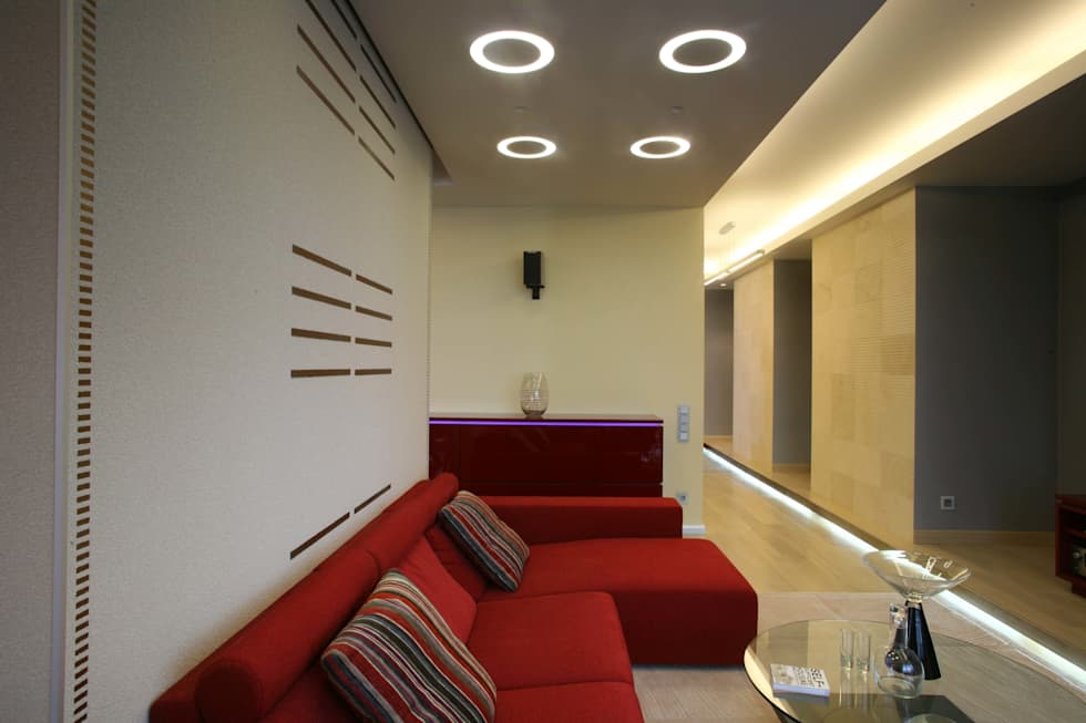 Гостиная: Гостиная в . Автор – Архитектурное бюро Лены Гординой