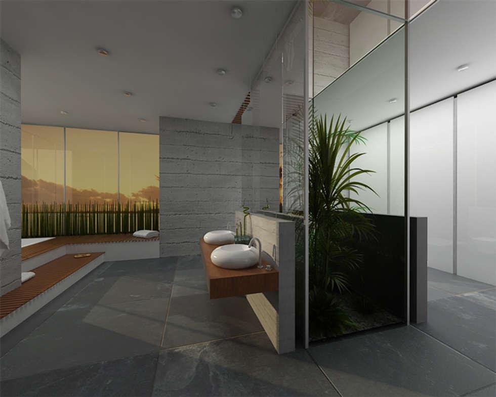 Salon kąpielowy - nowoczesność w Poznaniu: styl , w kategorii Łazienka zaprojektowany przez Kameleon - Kreatywne Studio Projektowania Wnętrz