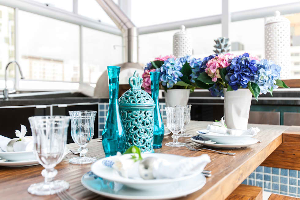 Varanda Gourmet: Terraços  por Barbara Dundes   ARQ + DESIGN